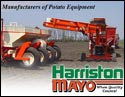 Products include Cup and Pick Potato Planters, Fertilizer Banders, Cultivators and Weeders, the Clodhopper and Terrastar dirt and clod removers and bean cutters and windrowers